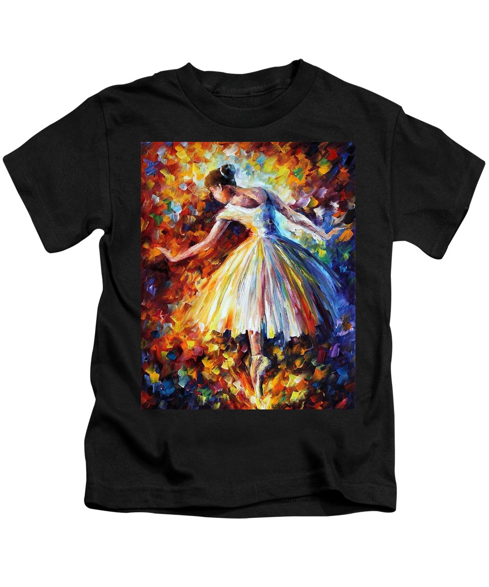Afremov Kids T-Shirt featuring the painting Surrounded By Music by Leonid Afremov