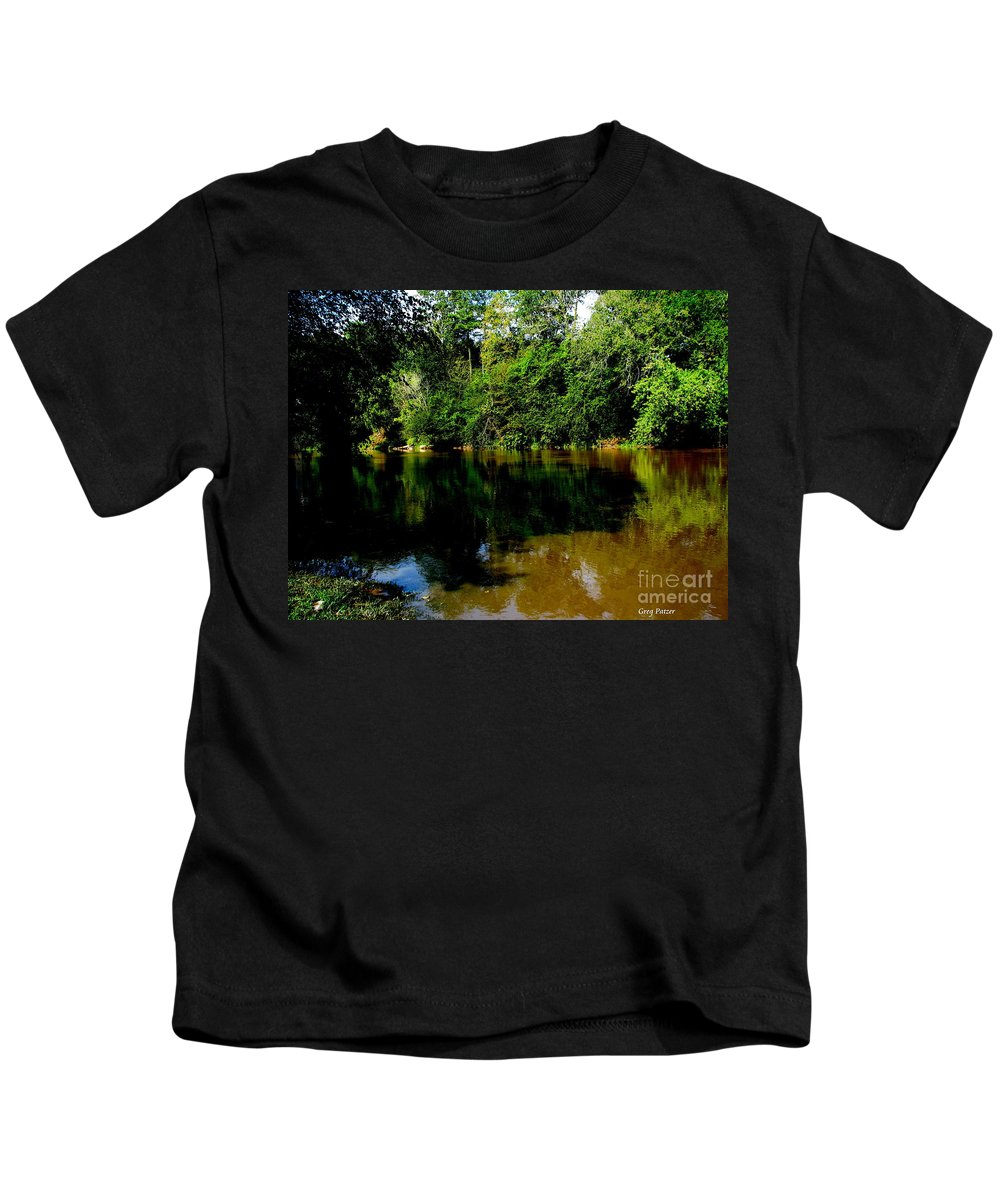 Patzer Kids T-Shirt featuring the photograph Suwannee River by Greg Patzer