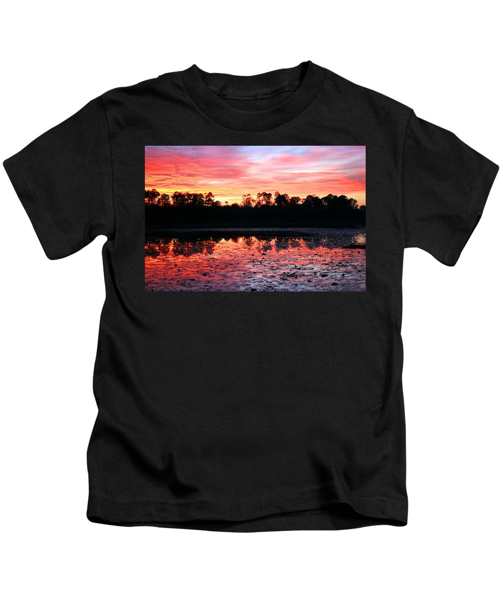 Swamp Kids T-Shirt featuring the photograph Swamp Sunset by Kristin Elmquist