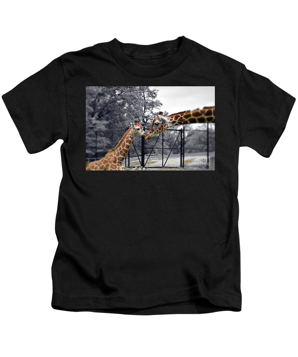 Sweet Moment Kids T-Shirt featuring the photograph Sweet Moment by Patti Whitten