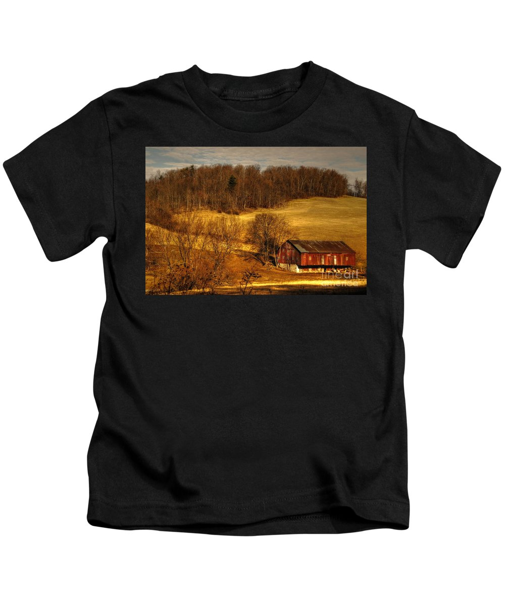 Barn Kids T-Shirt featuring the photograph Sweet Sweet Surrender by Lois Bryan