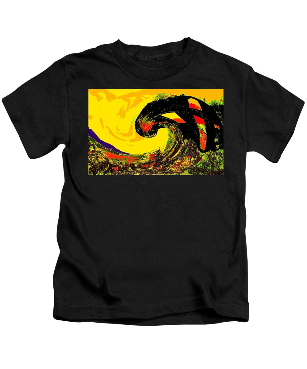 Abstract Kids T-Shirt featuring the photograph Swept Away by Ian MacDonald