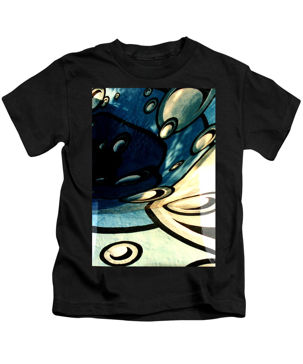 Swimming Pool Mural Kids T-Shirt featuring the painting Swimming Pool Mural Detail 2 by Rachel Christine Nowicki