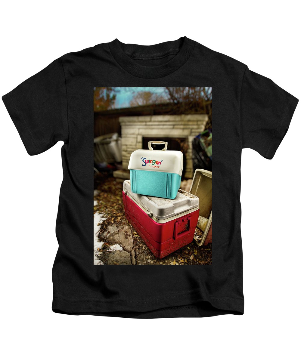 Painted Kids T-Shirt featuring the photograph Swinger Cooler by Yo Pedro