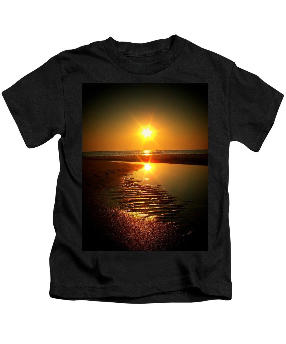 Sun Kids T-Shirt featuring the photograph Swirl Me A Sunrise by Trish Tritz