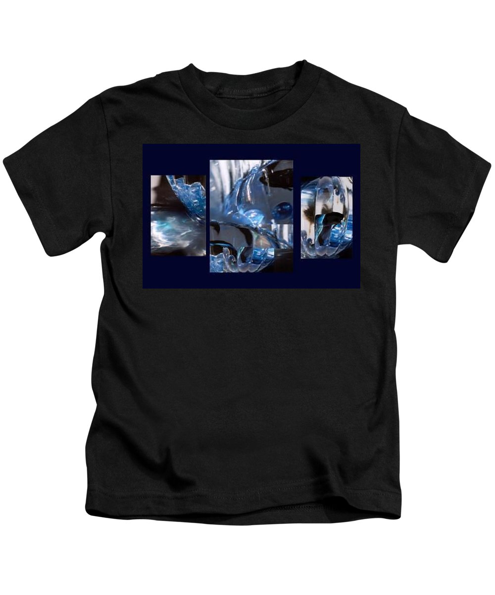 Abstract Of Betta In A Bowl Kids T-Shirt featuring the photograph Swirl by Steve Karol