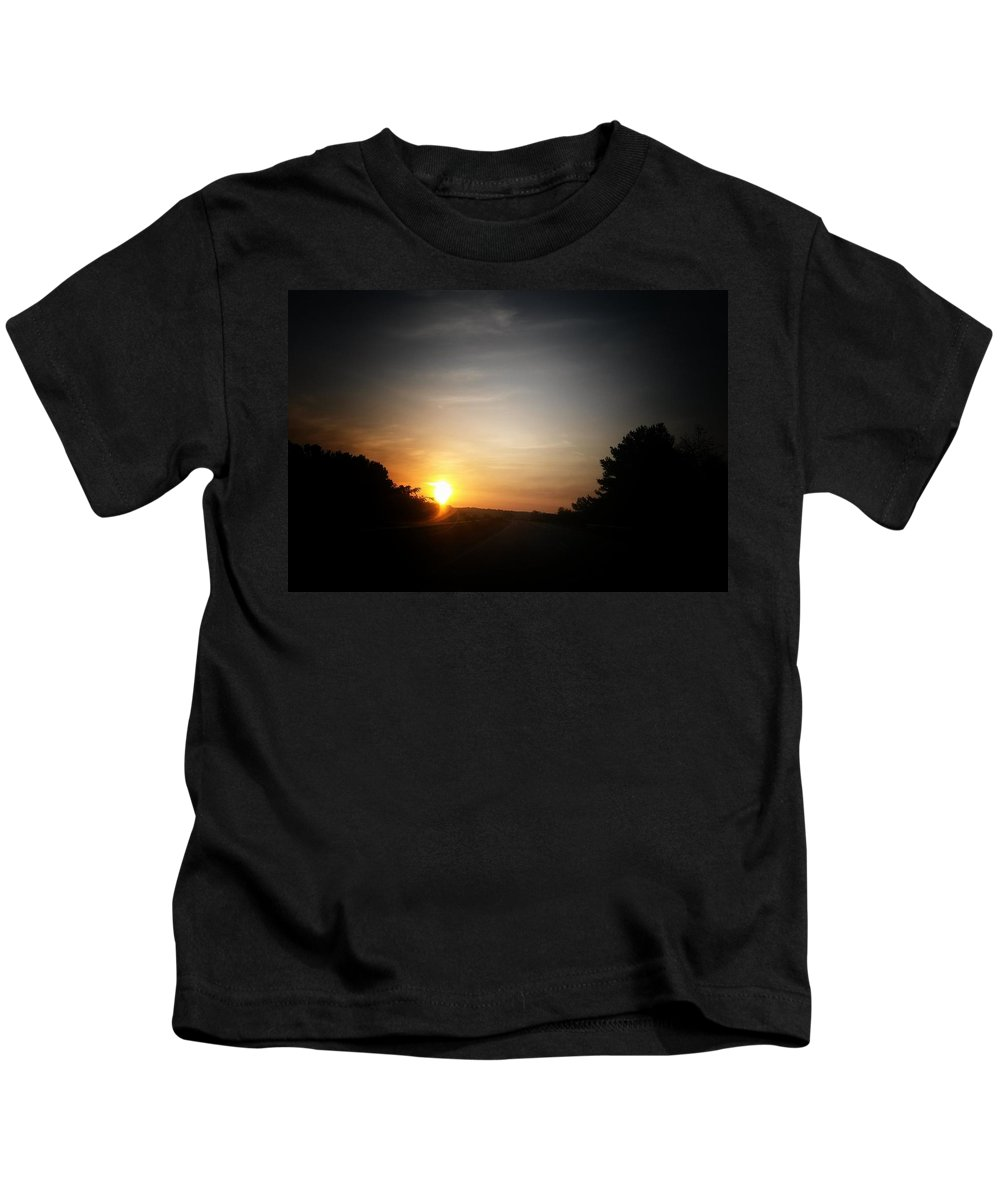 Swirling Sunrise Kids T-Shirt featuring the photograph Swirling Sunrise by Maria Urso