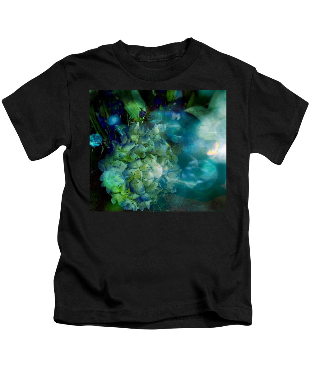 Flowers Kids T-Shirt featuring the photograph Symphony In Blue by Colleen Taylor