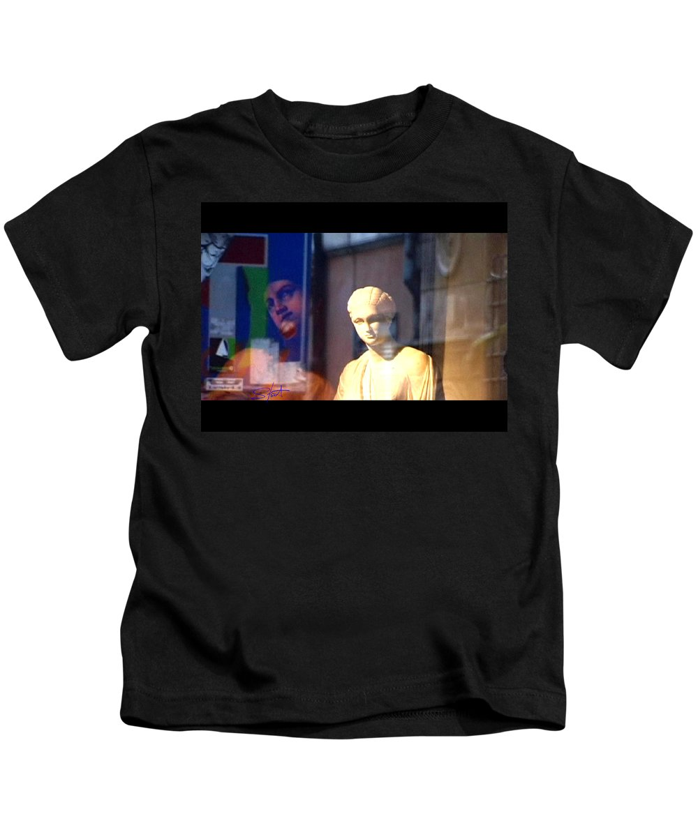 Rome Kids T-Shirt featuring the photograph Tableau by Charles Stuart