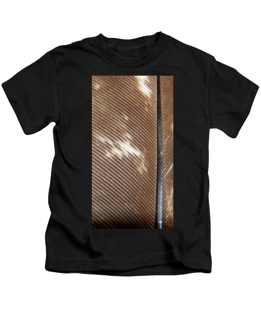 Feather Kids T-Shirt featuring the photograph Taking Wing by Kristie Ferrick