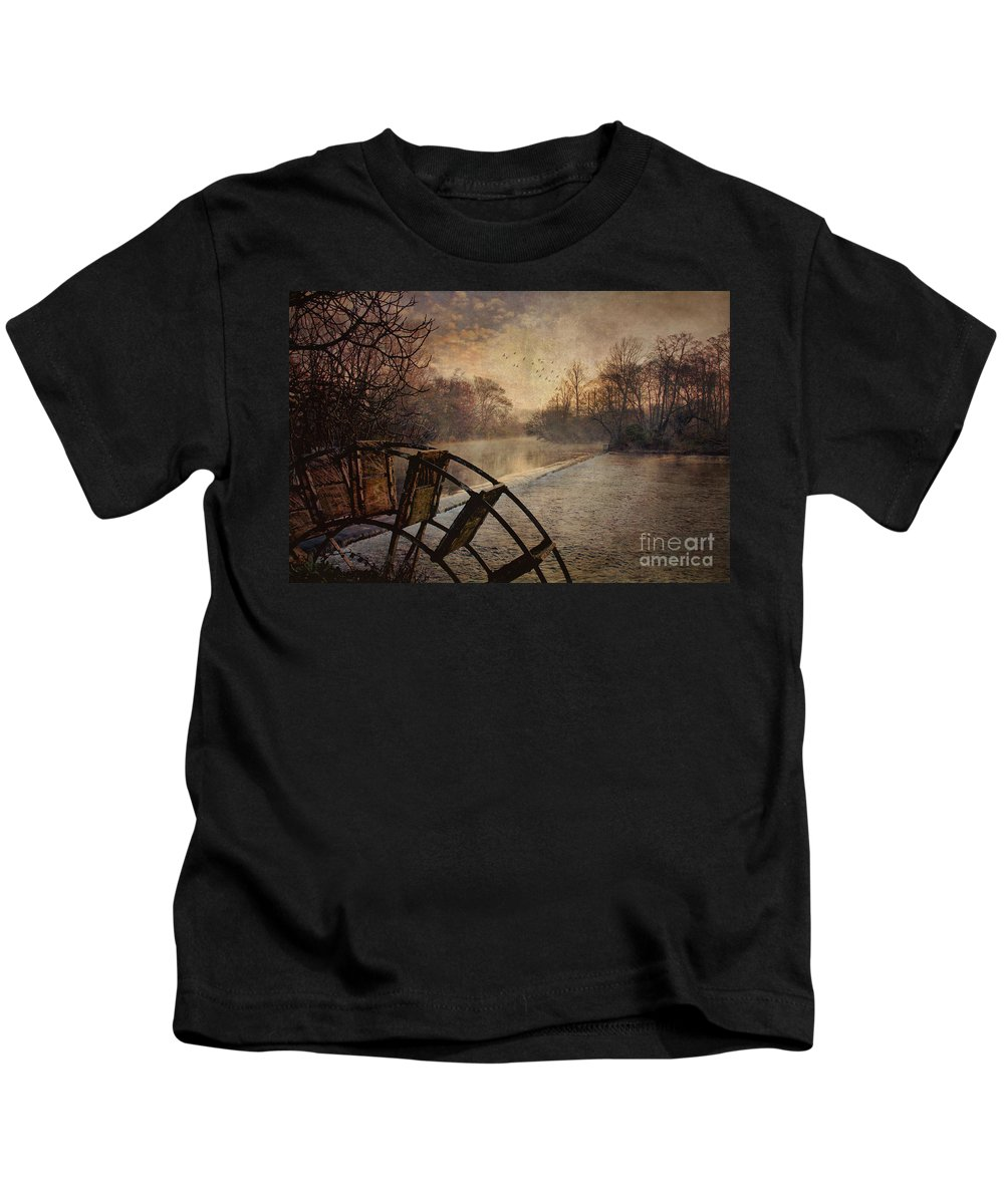 Tales Kids T-Shirt featuring the photograph Tales From The Riverbank II by Robert Brown
