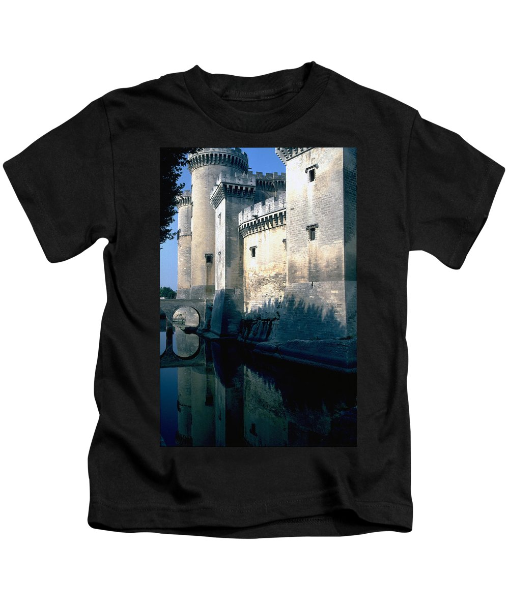 Tarragon France Castle Kids T-Shirt featuring the photograph Tarragon France by Flavia Westerwelle