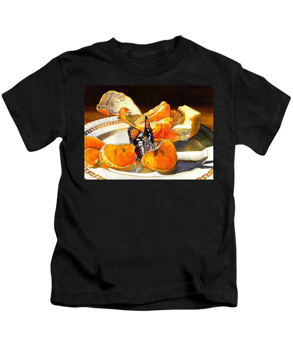 Butterfly Kids T-Shirt featuring the painting Tasty by Catherine G McElroy