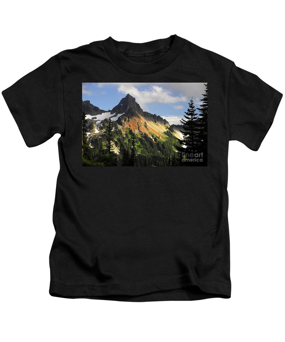 Mountains Kids T-Shirt featuring the photograph Tatosh Range by David Lee Thompson