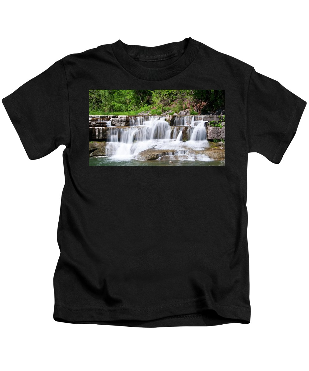 Water Kids T-Shirt featuring the photograph Taughannock Falls Sp 0462 by Guy Whiteley