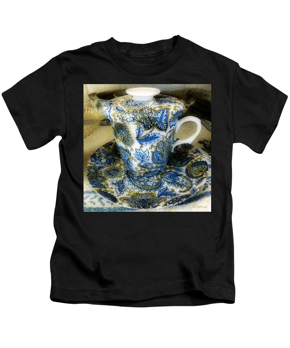 Asian Kids T-Shirt featuring the digital art Tea Is Served by RC DeWinter