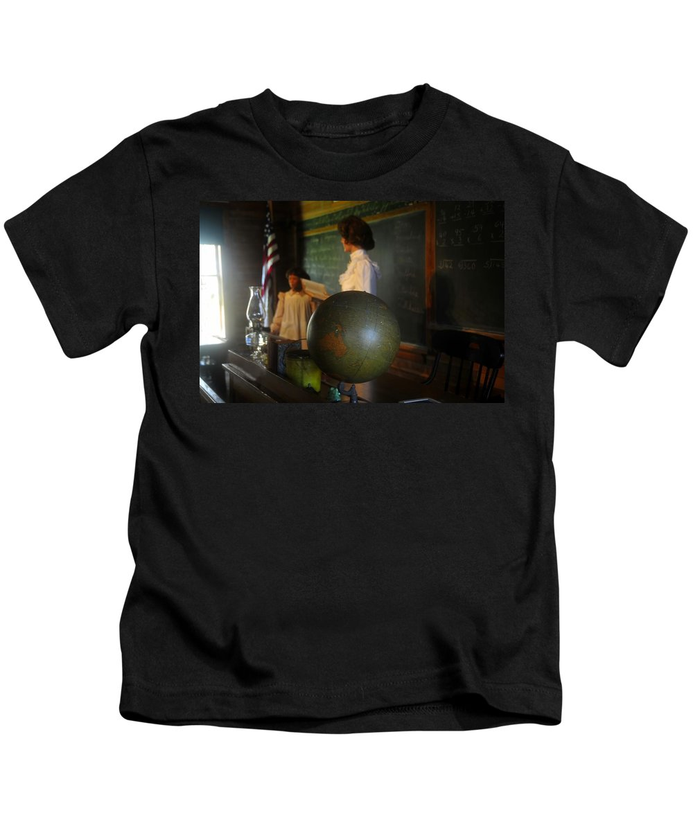 1800s Kids T-Shirt featuring the photograph Teaching Globe by David Lee Thompson