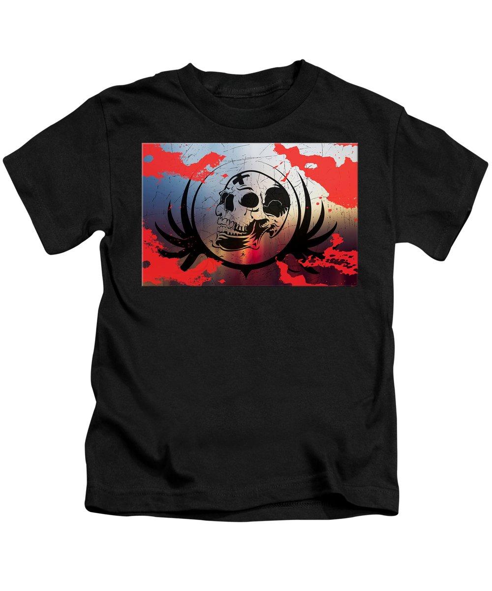 Tears Kids T-Shirt featuring the digital art Tears Of A Clown by Michael Damiani