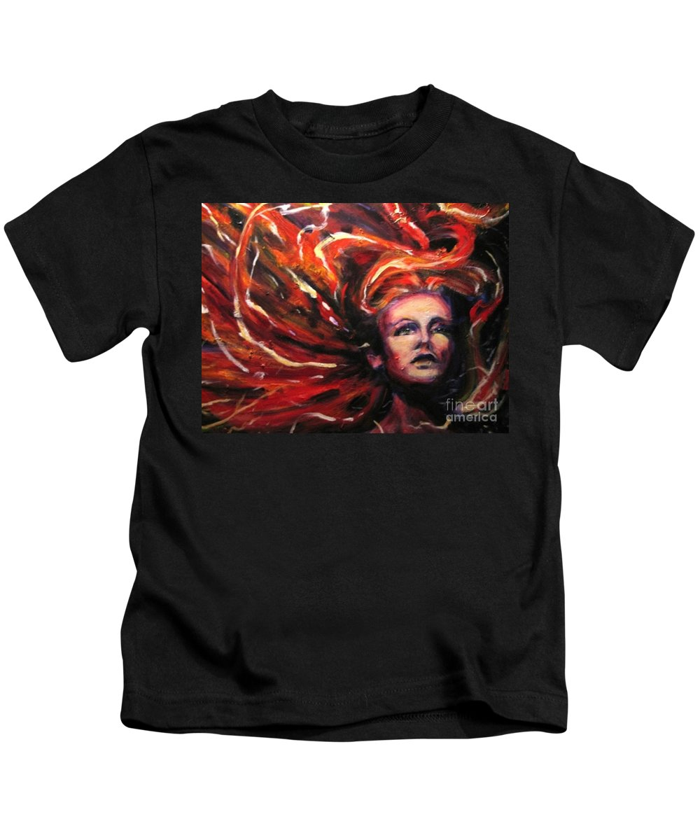 Bright Kids T-Shirt featuring the painting Tempest by Jason Reinhardt