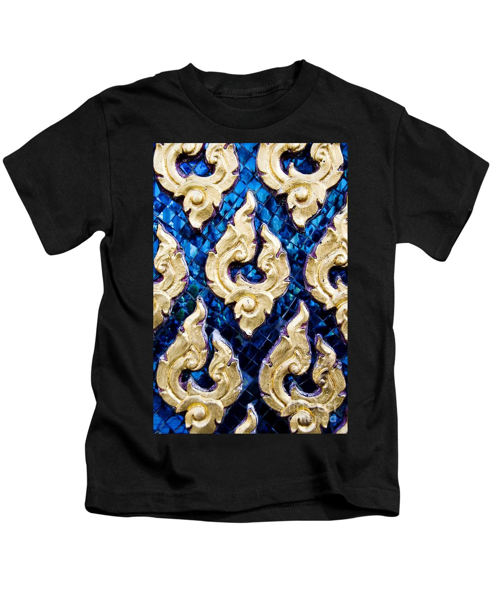 Art Kids T-Shirt featuring the photograph Temple Detail by Ray Laskowitz - Printscapes