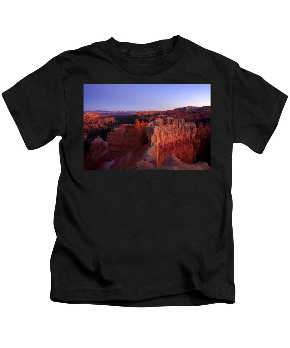 Hoodoo Kids T-Shirt featuring the photograph Temple Of The Setting Sun by Mike Dawson