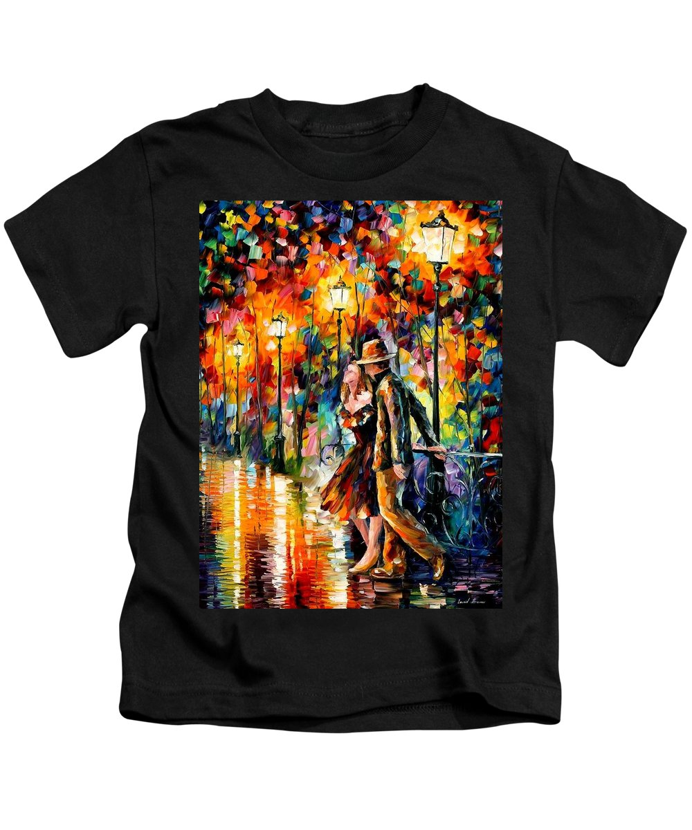 Scenery Kids T-Shirt featuring the painting Tempter by Leonid Afremov