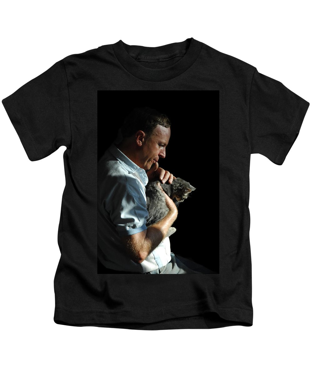 Man Kids T-Shirt featuring the photograph Tender Moment by Donna Blackhall
