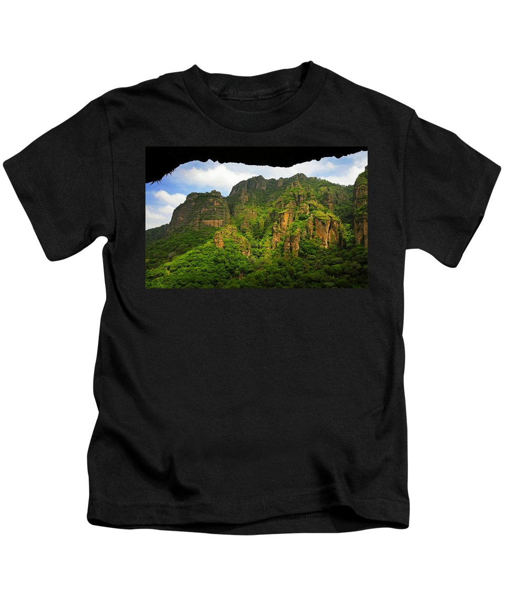 Skip Hunt Kids T-Shirt featuring the photograph Tepozteco by Skip Hunt