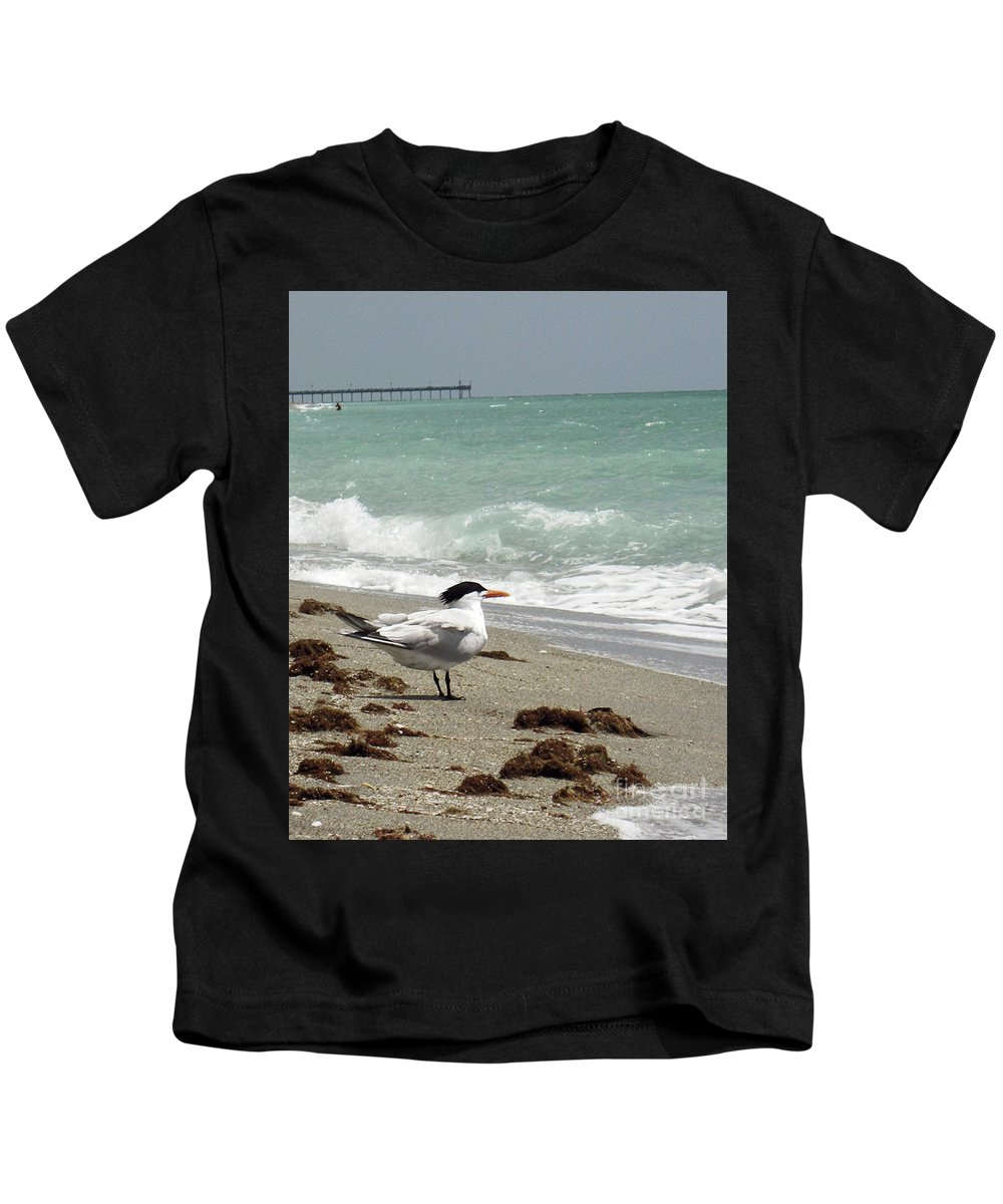 Florida Kids T-Shirt featuring the photograph Tern's View Gp by Chris Andruskiewicz