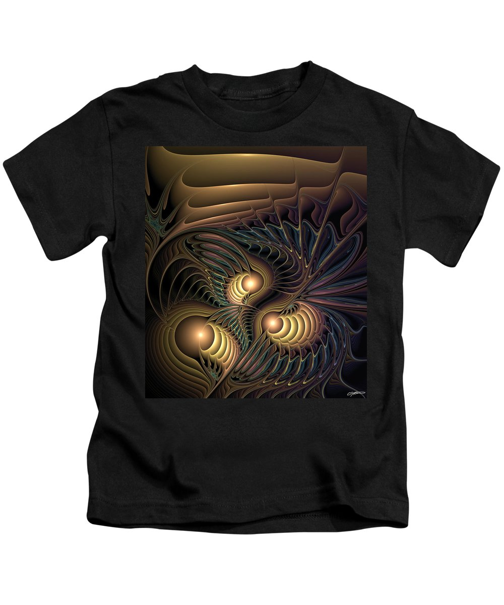 Abstract Kids T-Shirt featuring the digital art Tertiary Harmonics by Casey Kotas
