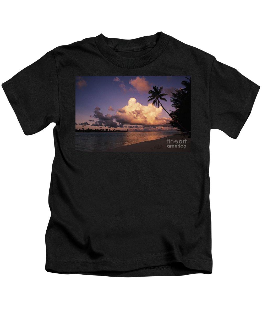 Beach Kids T-Shirt featuring the photograph Tetiaroa by Larry Dale Gordon - Printscapes