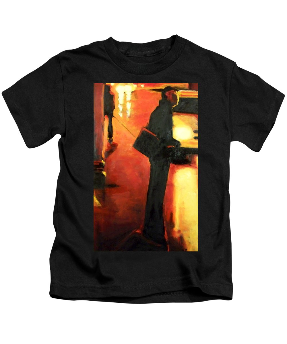 Rob Kids T-Shirt featuring the painting That First Step by Robert Reeves