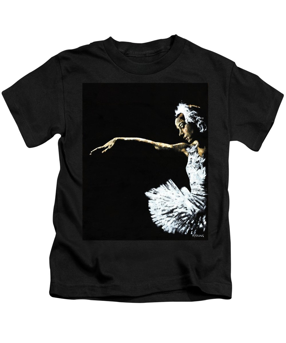 Ballet Kids T-Shirt featuring the painting The Art Of Grace by Richard Young