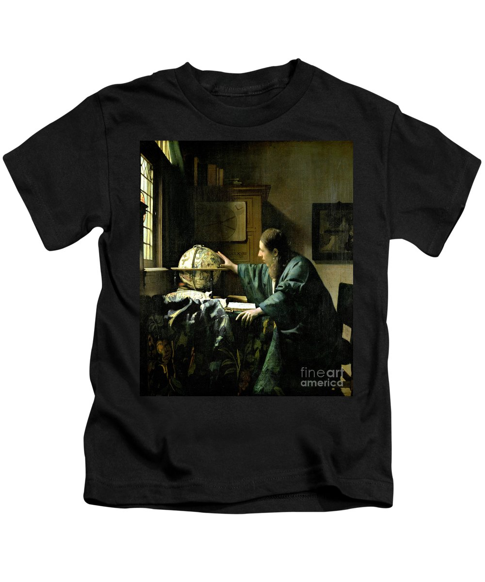 The Kids T-Shirt featuring the painting The Astronomer by Jan Vermeer