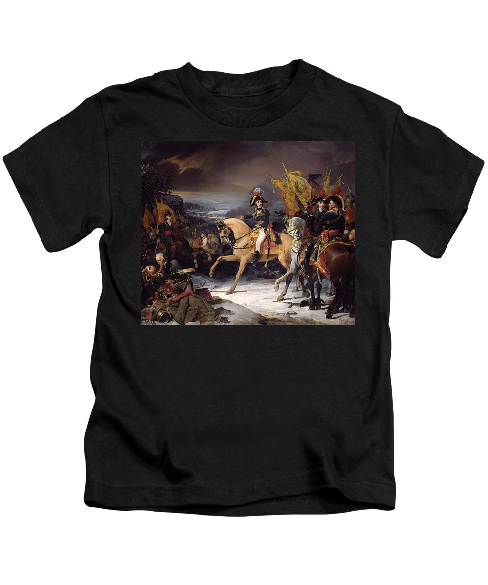 The Kids T-Shirt featuring the painting The Battle Of Hohenlinden by Henri Frederic Schopin