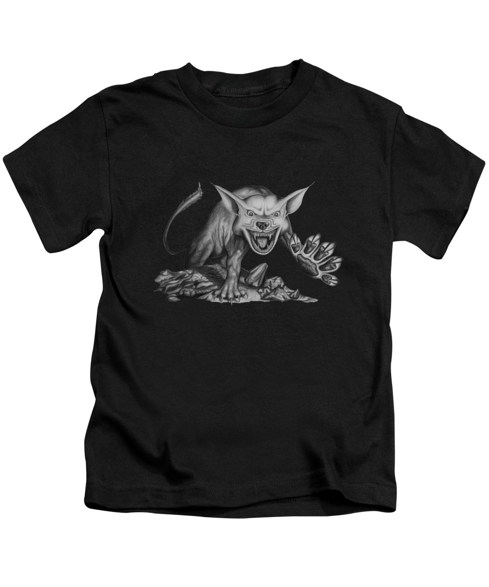 Storm Kids T-Shirt featuring the drawing The Beast by James Willoughby III
