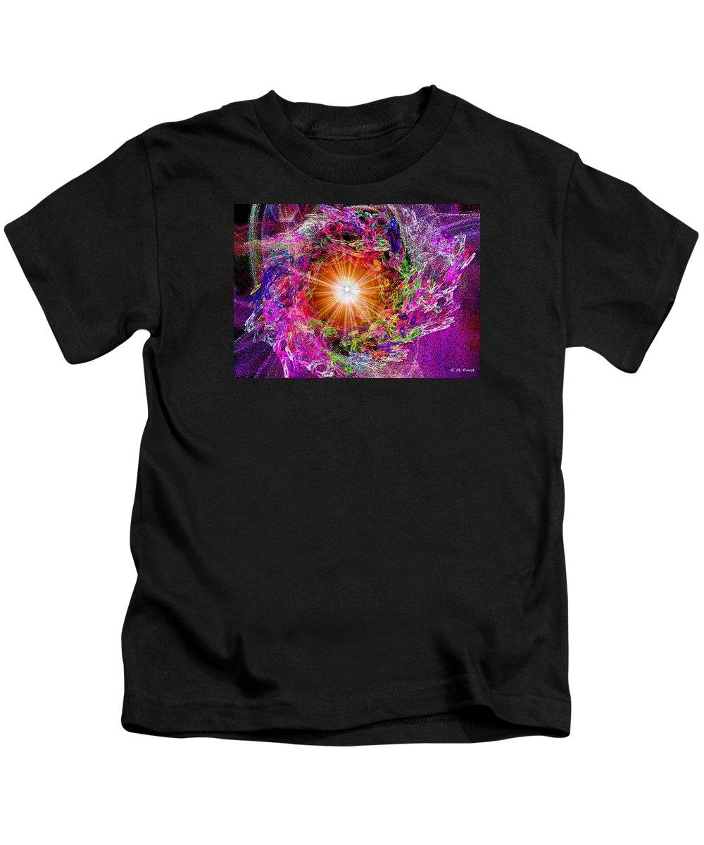 Digital Kids T-Shirt featuring the digital art The Beginning by Michael Durst