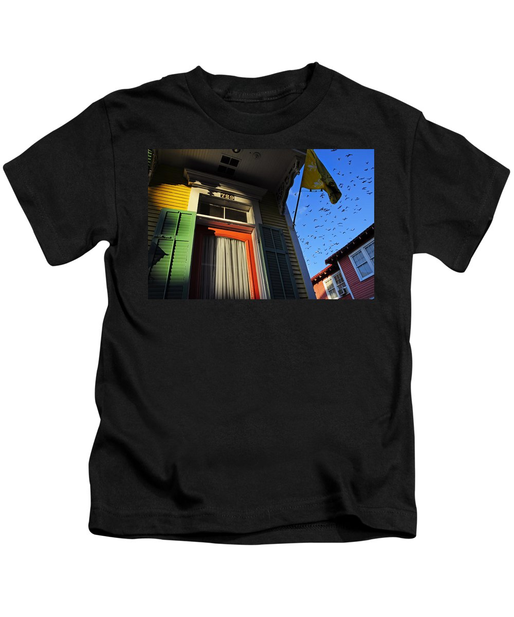 Skip Hunt Kids T-Shirt featuring the photograph The Birds by Skip Hunt