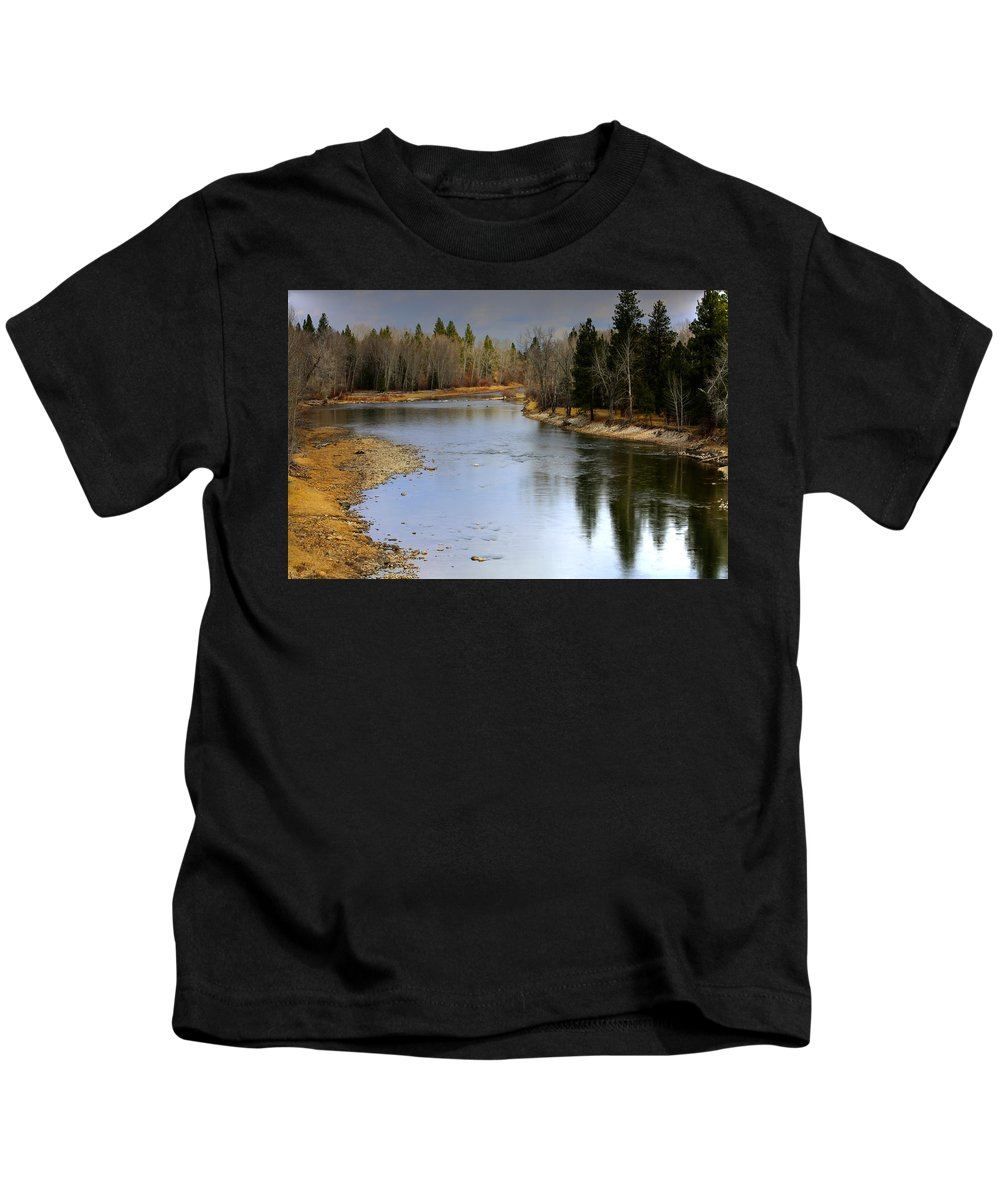 Bitterroot Kids T-Shirt featuring the photograph The Bitterroot River Montana by Karon Melillo DeVega