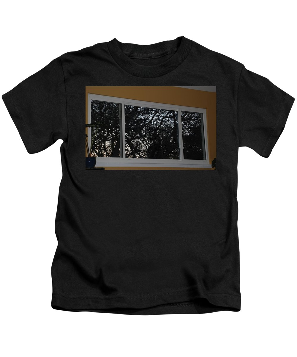 Window Kids T-Shirt featuring the photograph The Branch Window by Rob Hans
