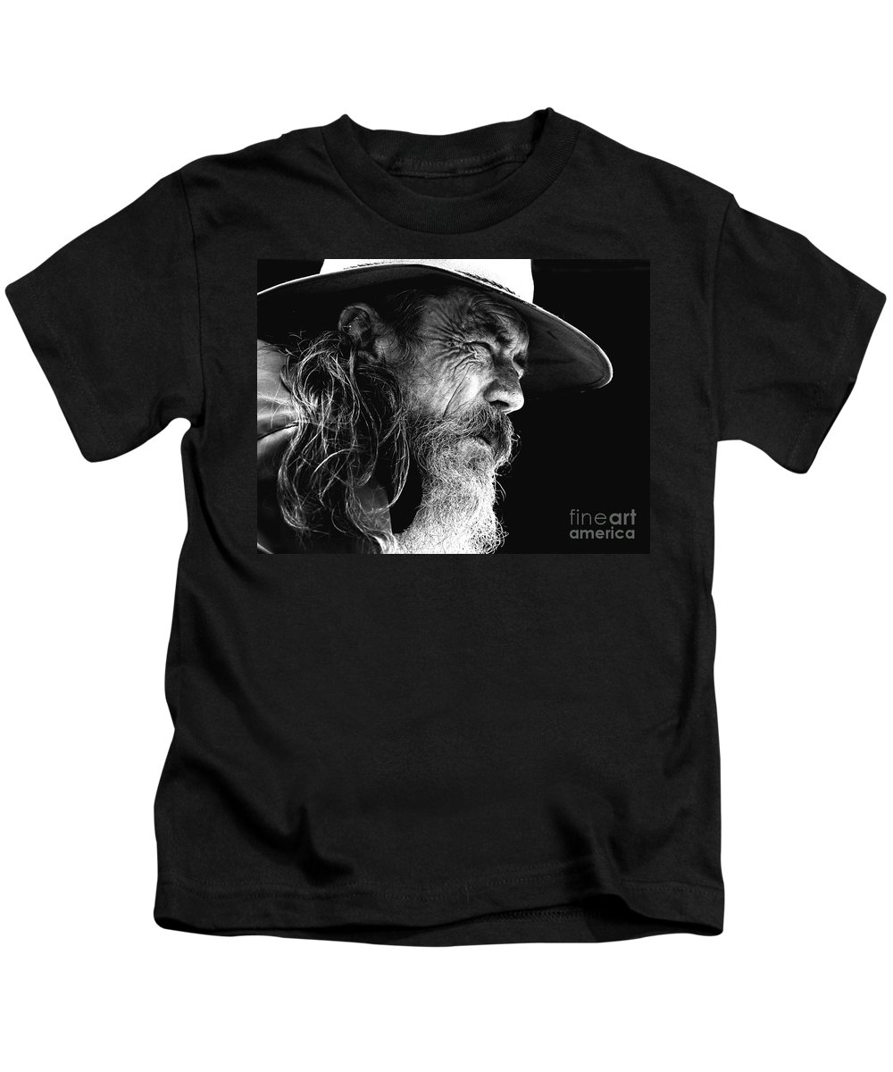 Australian Bushman Hat Kids T-Shirt featuring the photograph The Bushman by Sheila Smart Fine Art Photography