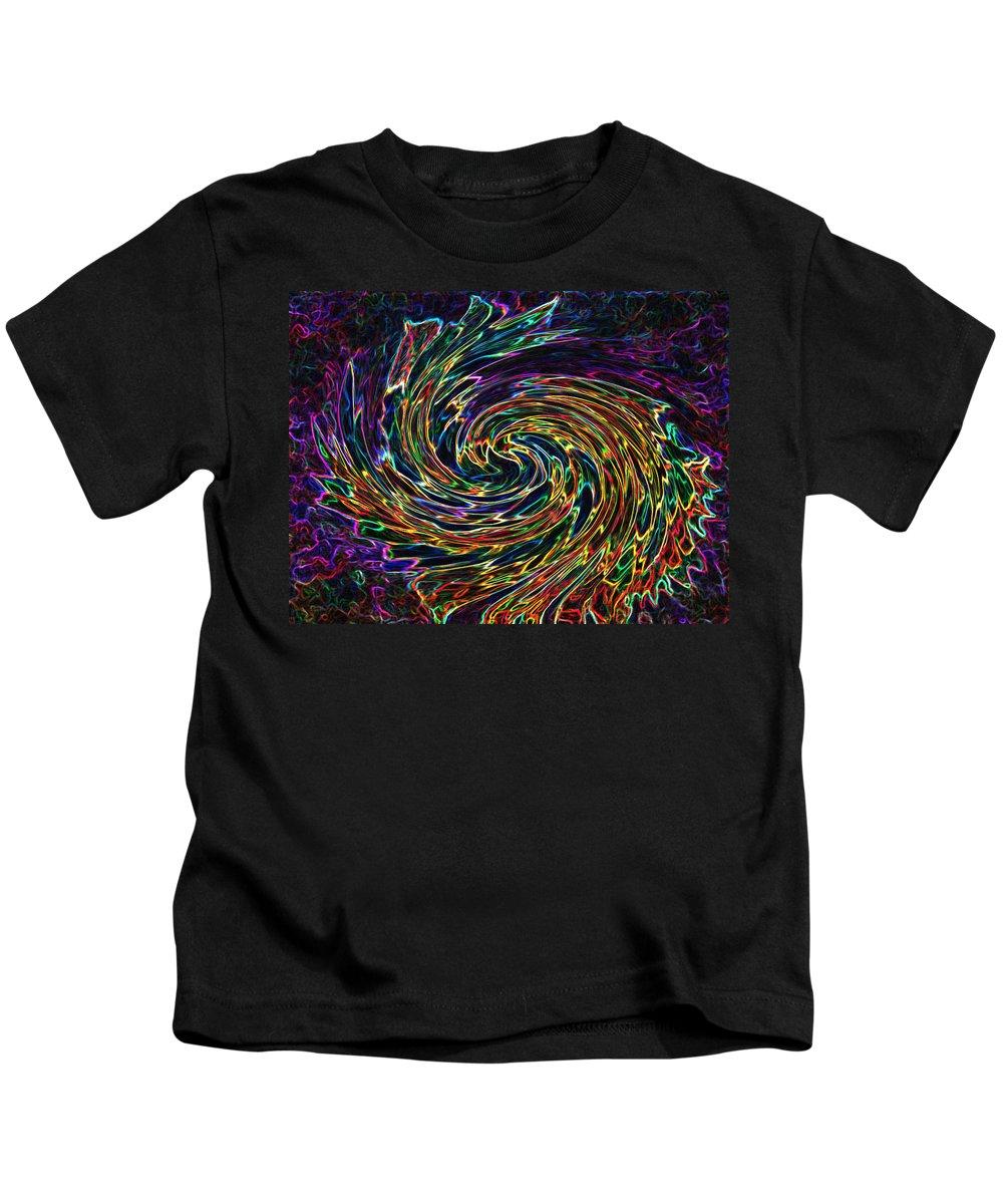Abstract Kids T-Shirt featuring the digital art The Cherub's Flight by Iliyan Bozhanov