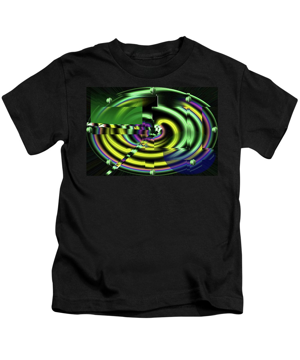 Clock Kids T-Shirt featuring the digital art The Clock by XERXEESE Color Schemes