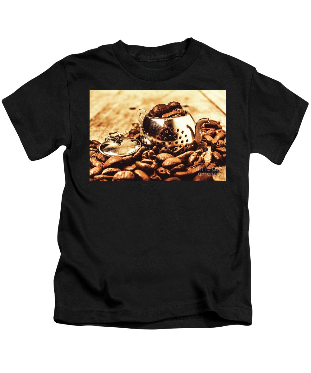 Afternoon Tea Kids T-Shirt featuring the photograph The Coffee Roast by Jorgo Photography - Wall Art Gallery