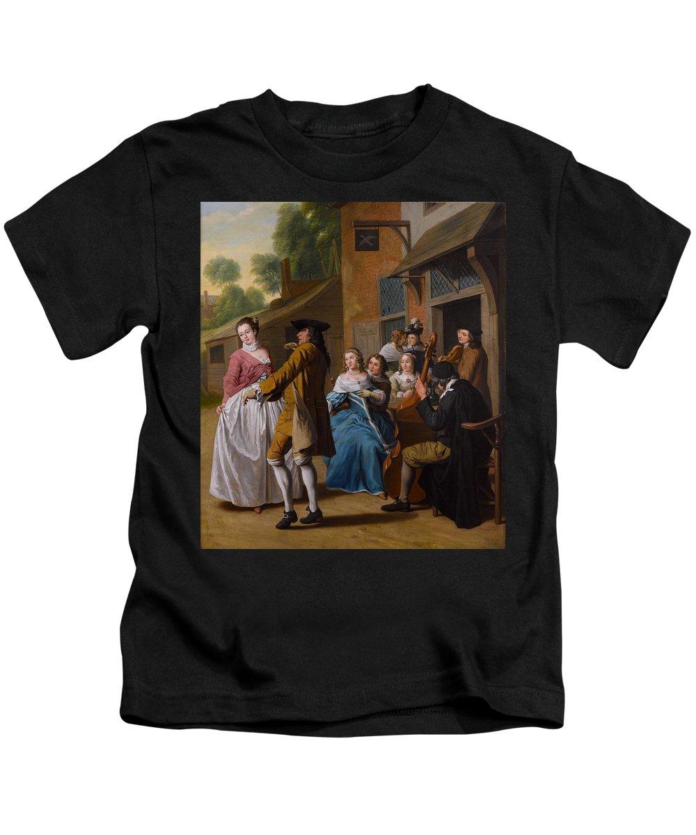 Jan Josef Horemans The Younger (antwerp 1714 - Antwerp 1790) Kids T-Shirt featuring the painting The Concert by Jan Josef Horemans