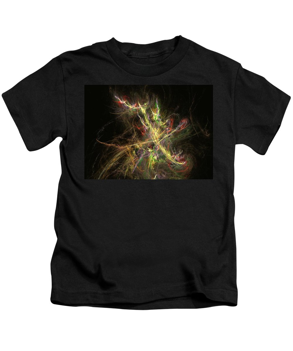 Abstract Digital Photo Kids T-Shirt featuring the digital art The Dance 1 by David Lane