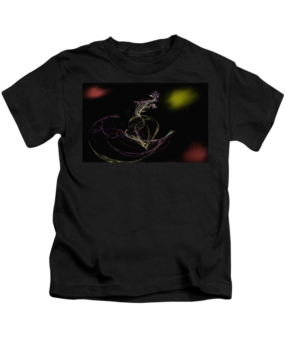 Abstract Digital Photo Kids T-Shirt featuring the digital art The Dance by David Lane