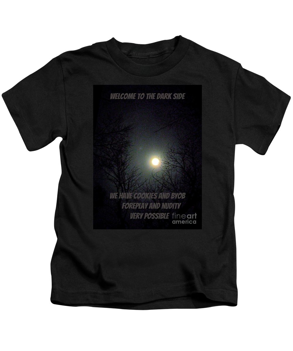 Funny Kids T-Shirt featuring the digital art The Dark Side by Darrin Ingram