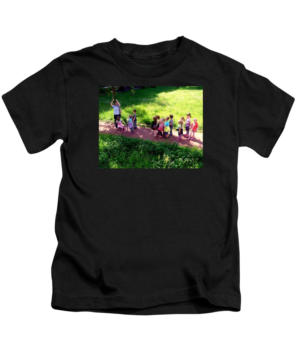Henryk Kids T-Shirt featuring the photograph The Discovery Of Rowan by Henryk Gorecki