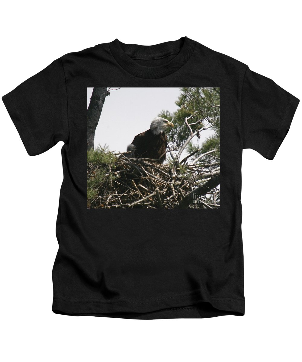 Eagle Kids T-Shirt featuring the photograph The Eagle Eye by Robert Pearson